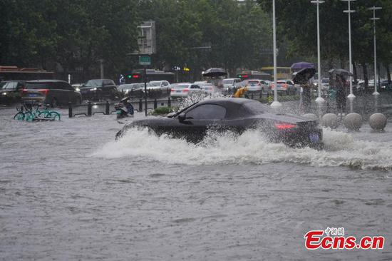 Record torrential rain hits central China's Zhengzhou