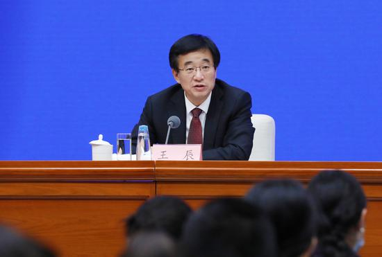 Wang Chen, president of the Chinese Academy of Medical Sciences and Peking Union Medical College, at a news conference on July 22, 2021. (chinadaily.com.cn/Zhu Xingxin)