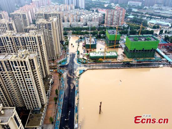Record torrential rainfall hits central China's Zhengzhou