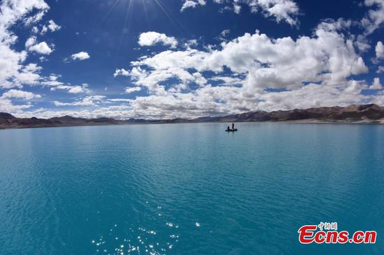 2nd scientific expedition team conducts lake research in Tibet