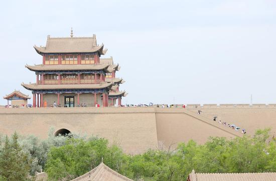 Jiayu Pass in NW China's Gansu a popular tourist destination in summer