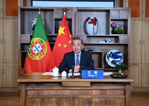 China calls on Portugal to jointly oppose 'vaccine nationalism,' 'political virus'