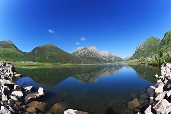 Scenery of Lian Bao Ye Ze in SW China's Sichuan