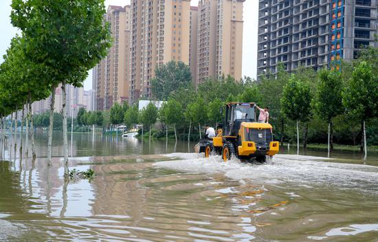 Rainstorm-hit central China's city gradually returns to normal life