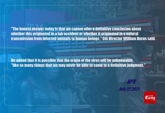 CIA director says no definite conclusion about COVID-19 origin