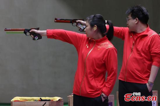China wins gold in 10m air pistol mixed team at Tokyo Olympics