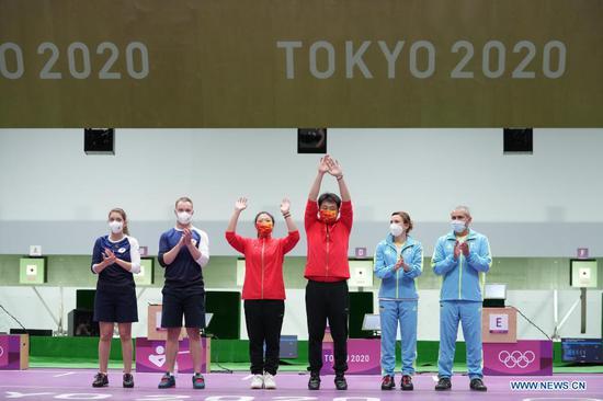 China wins 10m air pistol mixed team at Tokyo Olympics