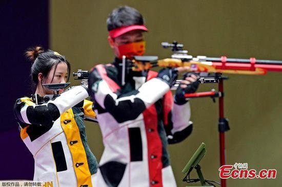 China wins 10m air rifle mixed team at Tokyo Olympics