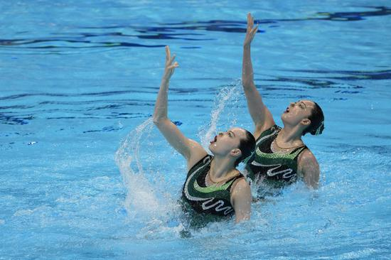 Chinese artistic swimmers win duet silver at Tokyo Olympics