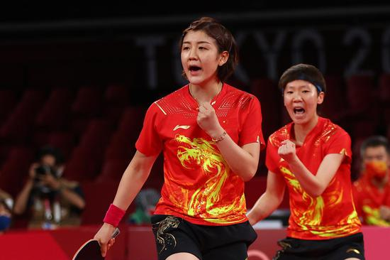 China wins gold in table tennis women's team at Tokyo Olympics