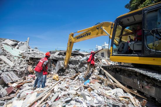 Rescue works continue after deadly earthquake topples buildings