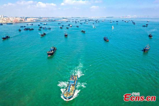 Fishing ban lifted in East China's Fujian
