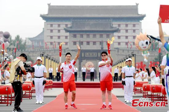 Torch relay for China's 14th National Games launched in Xi'an