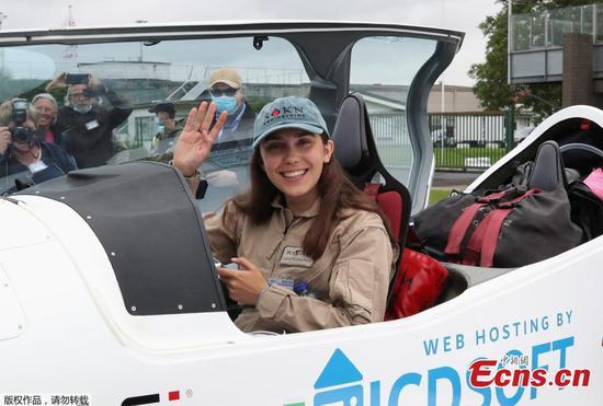 Belgian girl, 19, aims to break women's solo flight record