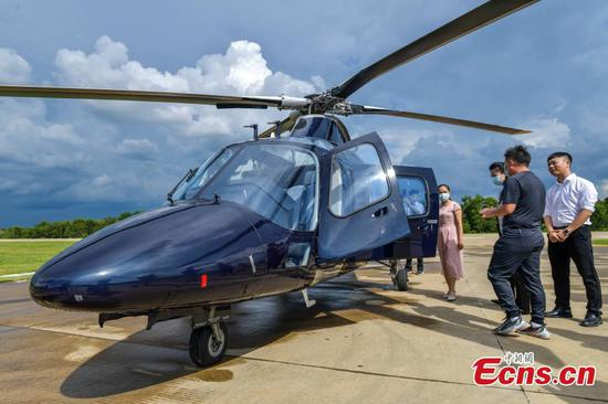 First zero-tariff imported helicopter arrives at S China's Hainan FTP