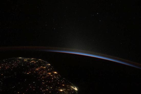 Splendid sunrise seen from international space station
