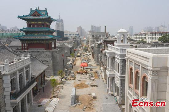 Renovation of Zhonglou street nears completion