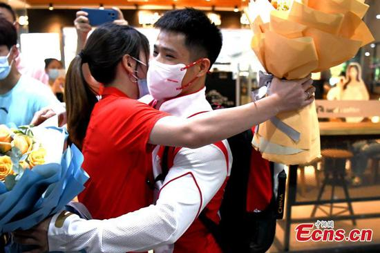 Olympic athletes back to China with triumph