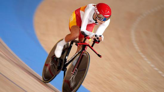 China wins silver in track cycling women's individual pursuit at Tokyo Paralympic Games