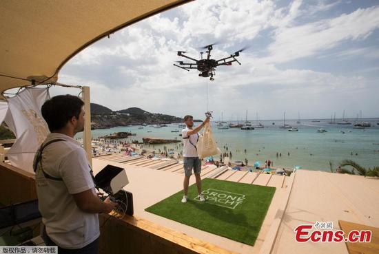Spain launches drone delivery service for yachts