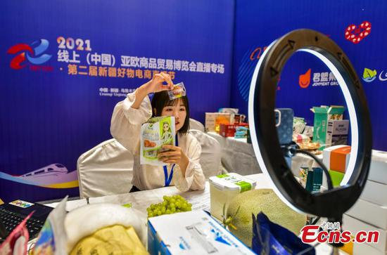 Xinjiang boosts local agricultural products at online Asia-Europe Commodity Trade Fair