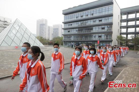Students in Beijing welcome new semester