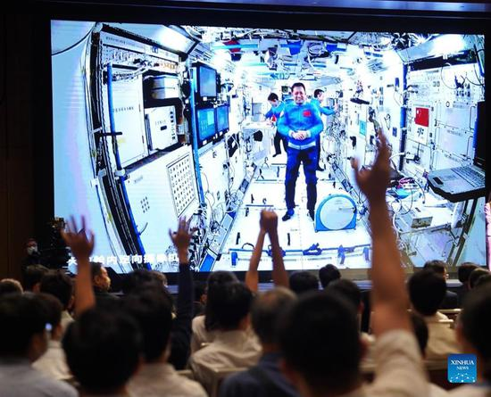 Chinese astronauts talk with Hong Kong youths from space via video link