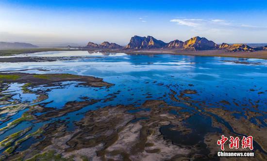 Picturesque scenery captured on Xinjiang Yongan Lake