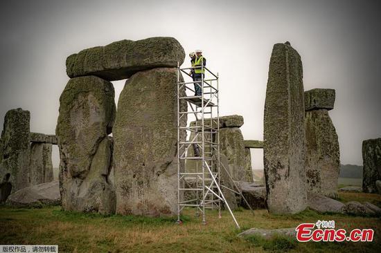 Restoration work starts at Stonehenge in England