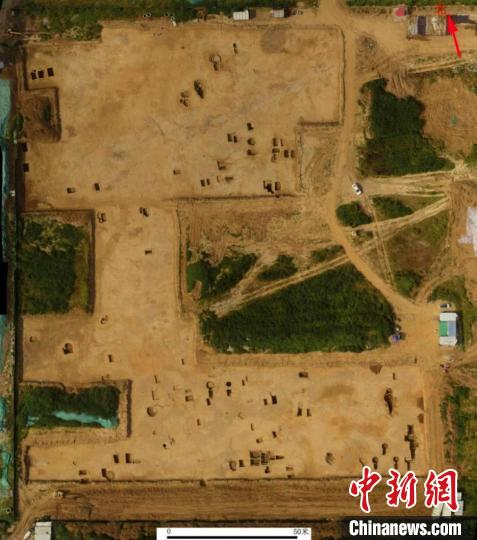 84 ancient Chinese tombs were found in East China's Jinan. (Photo provided to China News Service by Jinan Municipal Institute of Archaeology)
