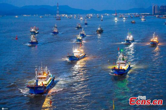 Annual fishing ban lifted in east China sea
