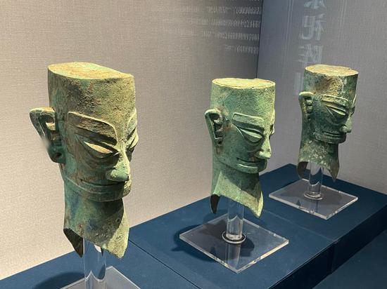 Cultural relics of Sanxingdui, Jinsha Ruins of Sichuan on display in Zhejiang