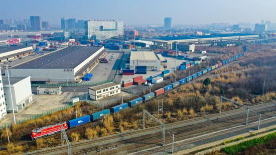 Chinese city launches new freight train route to Poland