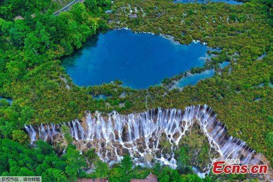 Spectacular scenery of Jiuzhaigou scenic area in southwest China's Sichuan