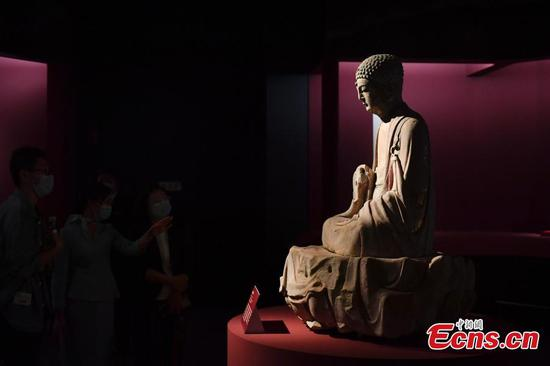 Dazu Rock Carvings exhibited at National Museum of China