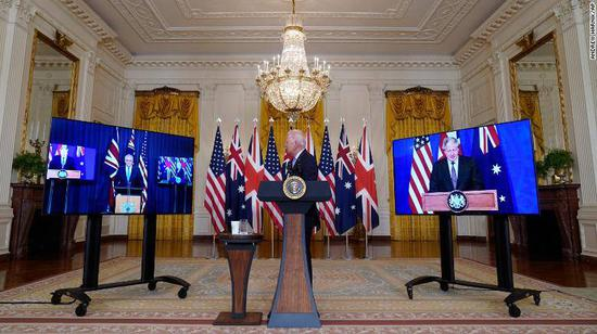 China expresses grave concern over U.S.-UK-Australia nuclear submarine cooperation
