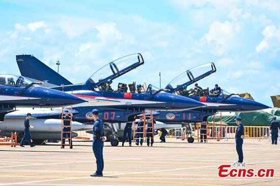 PLA fighter jets to perform at 13th Airshow China
