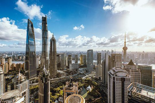The Lujiazui area of Shanghai is home to major global financial organizations. (Photo/China Daily)