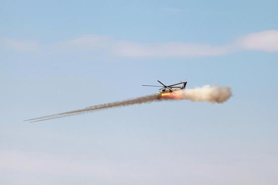 Combat exercises held at Peace Mission 2021 in Russia