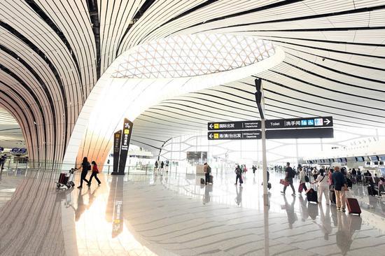 New Beijing airport handles nearly 39 million passenger trips