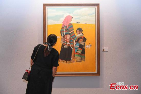 Oil painting exhibition on Tibet held in Lhasa