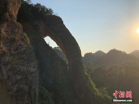 Bizarre scenery of elephant trunk hill in Jiangxi