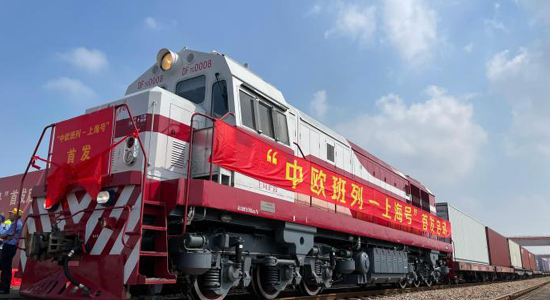 Shanghai launches its first China-Europe freight train