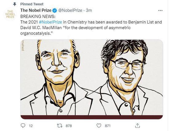 2 scientists share 2021 Nobel Prize in Chemistry