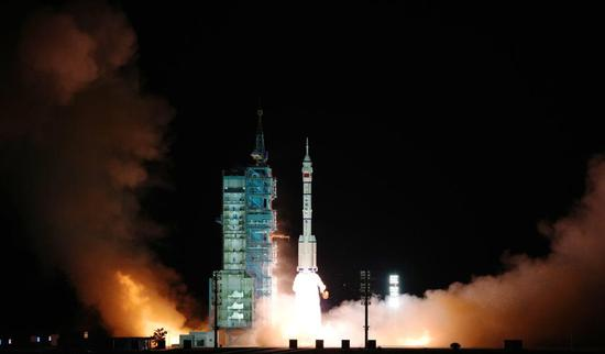 China launches its longest-ever crewed mission for space station construction