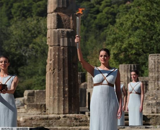 Olympic Flame for Beijing 2022 Winter Games lit in Ancient Olympia