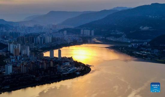 Scenery of Hanfeng Lake in Chongqing