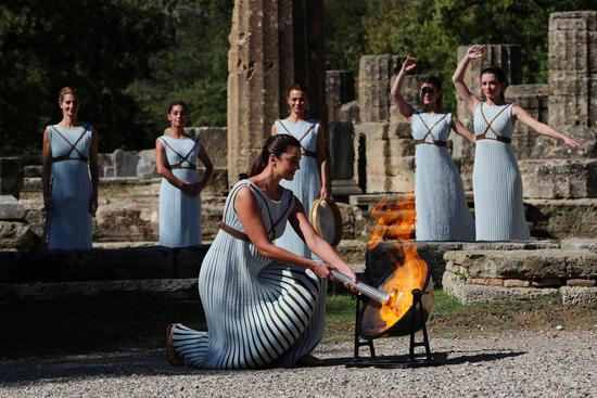 Beijing 2022 Winter Games flame lit in ancient Olympia