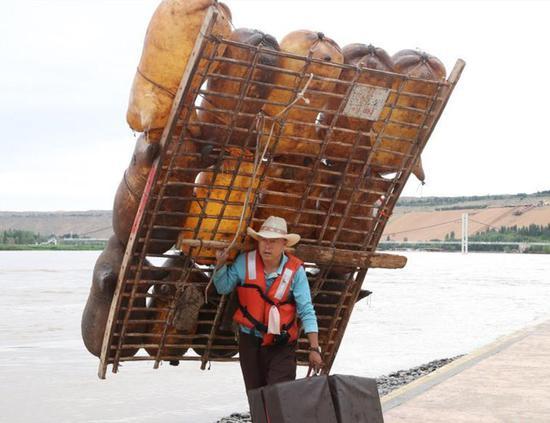 Goatskin raft an intangible cultural heritage in Ningxia