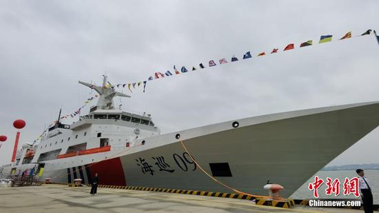 China��s first 10,000-ton ocean patrol vessel commissioned in Guangzhou